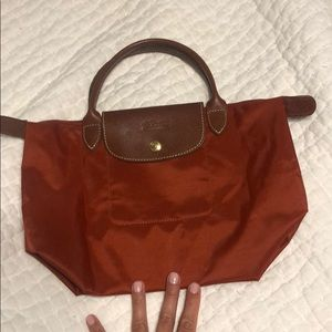 Longchamp  LE PLIGE SMALL  burnt orange
